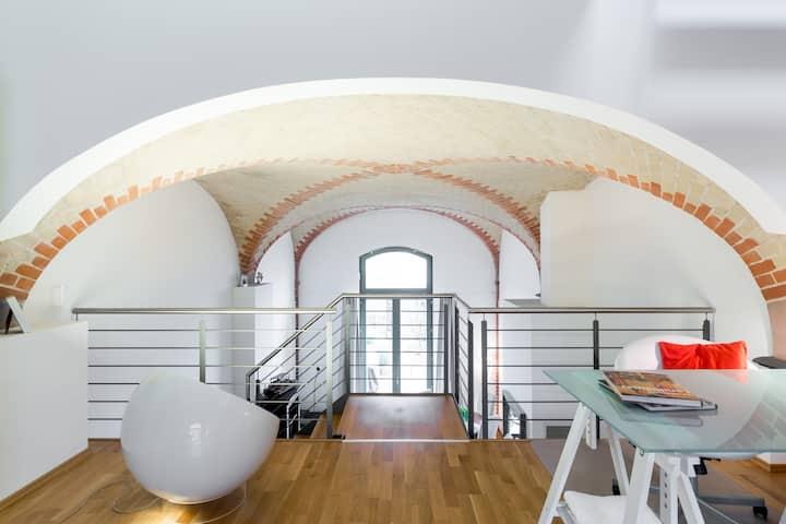 Exclusives Loft am Schloss Sanssouci, Kamin&Garten