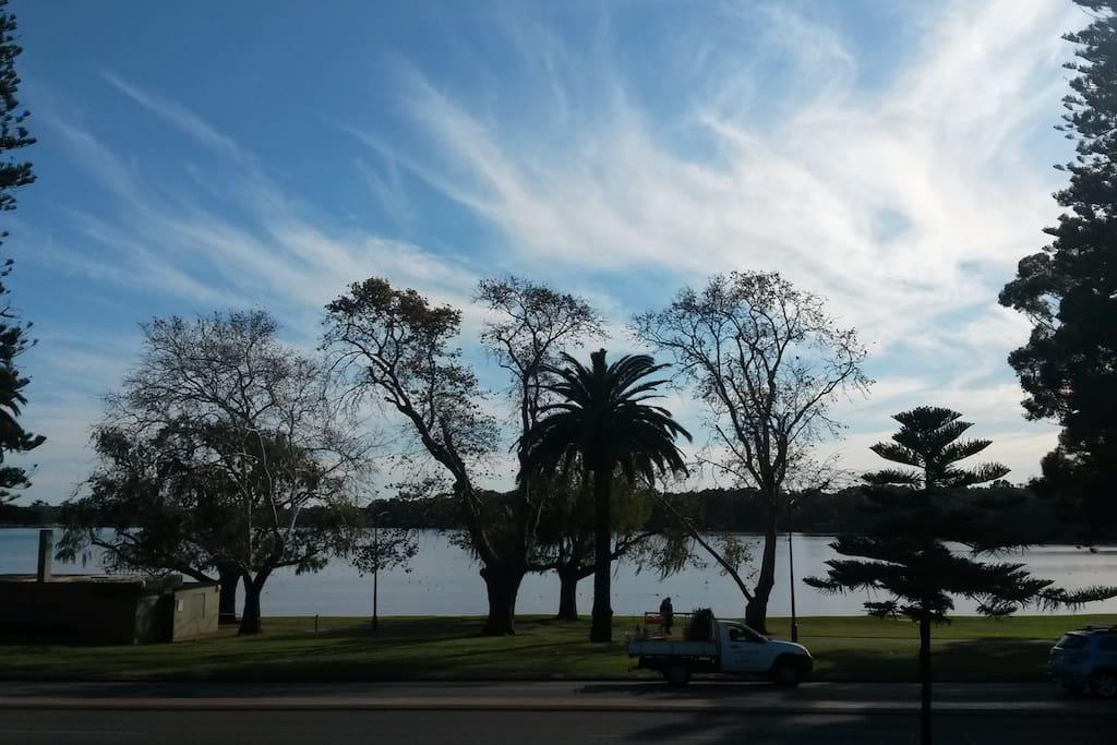 The beautiful Lake Monger is closeby