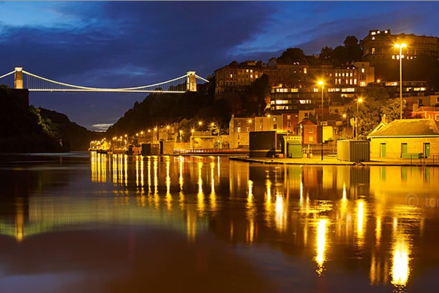 Hotwells on the River at Night
