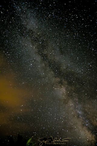 One of our guests took these pictures of the Milky Way from our yard!