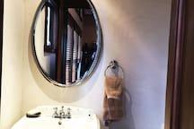 Half bath upper living area