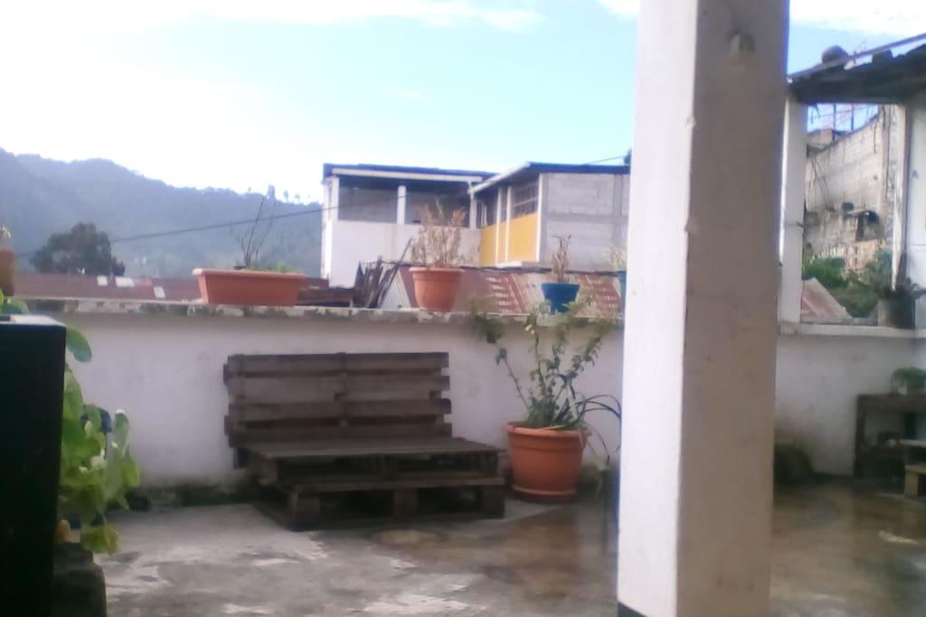 Smoking area terrace