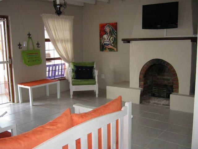Living Room with inside fireplace