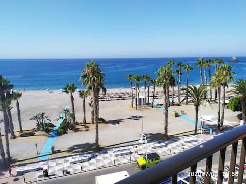 Sunny beachfront apartment