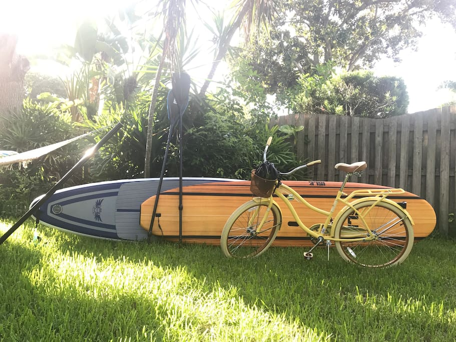 Paddle boards and bicycles are available for small fee rent  Also free to use beach umbrella and beach chairs and fishing polls