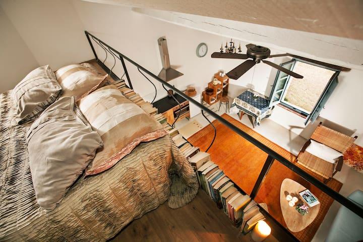 Sunny, newly-restored, studio loft - Vaiano - Vila