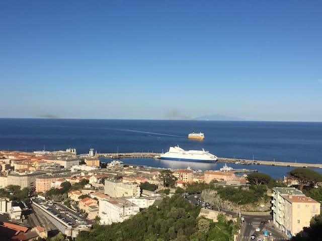 Appart T4 climatisé vue panoramique - Bastia - Apartment