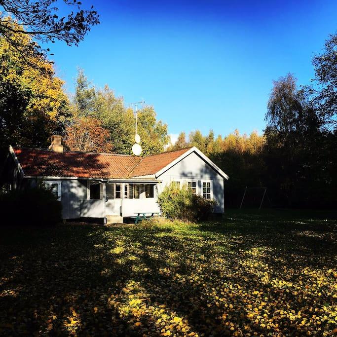 Huset en smuk efterårsdag