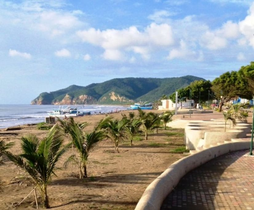 The beach is just 150 meters from Casa Mosaico