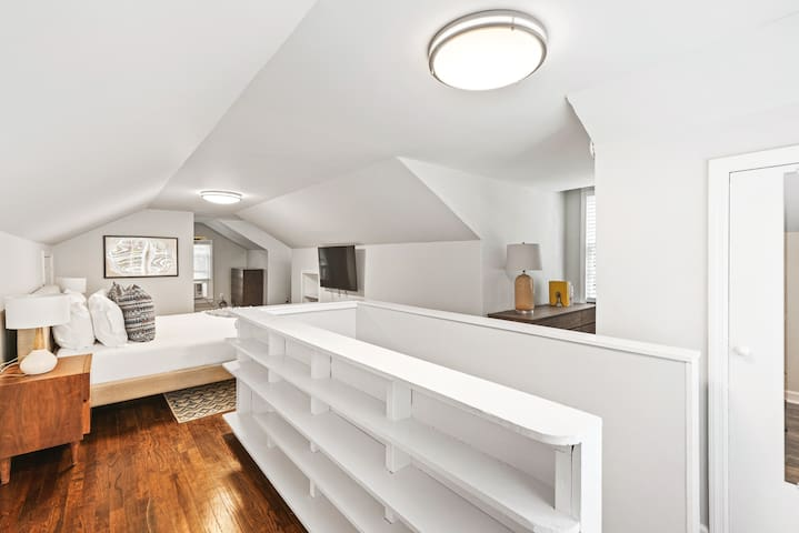 Spacious and airy upstairs master suite