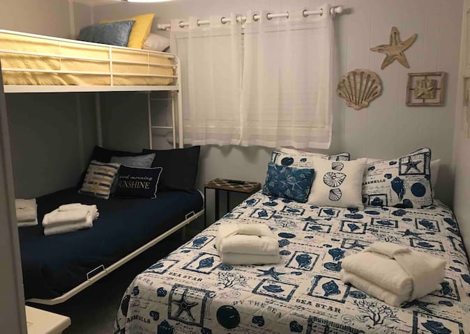 Bedroom 2 - Queen bed and Twin over Full Bunkbed