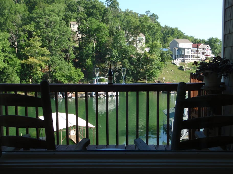 Lake view from rocking chairs