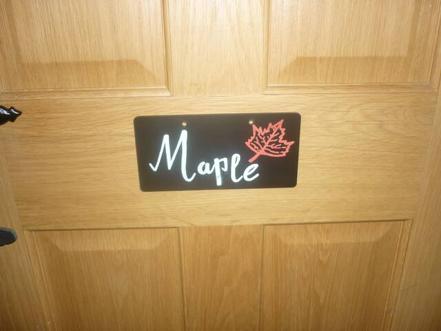 Both of our double rooms have names this one is Maple.