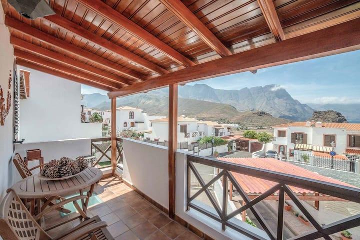 Villa Agaete avec vue sur la mer et terrasse avec barbecue