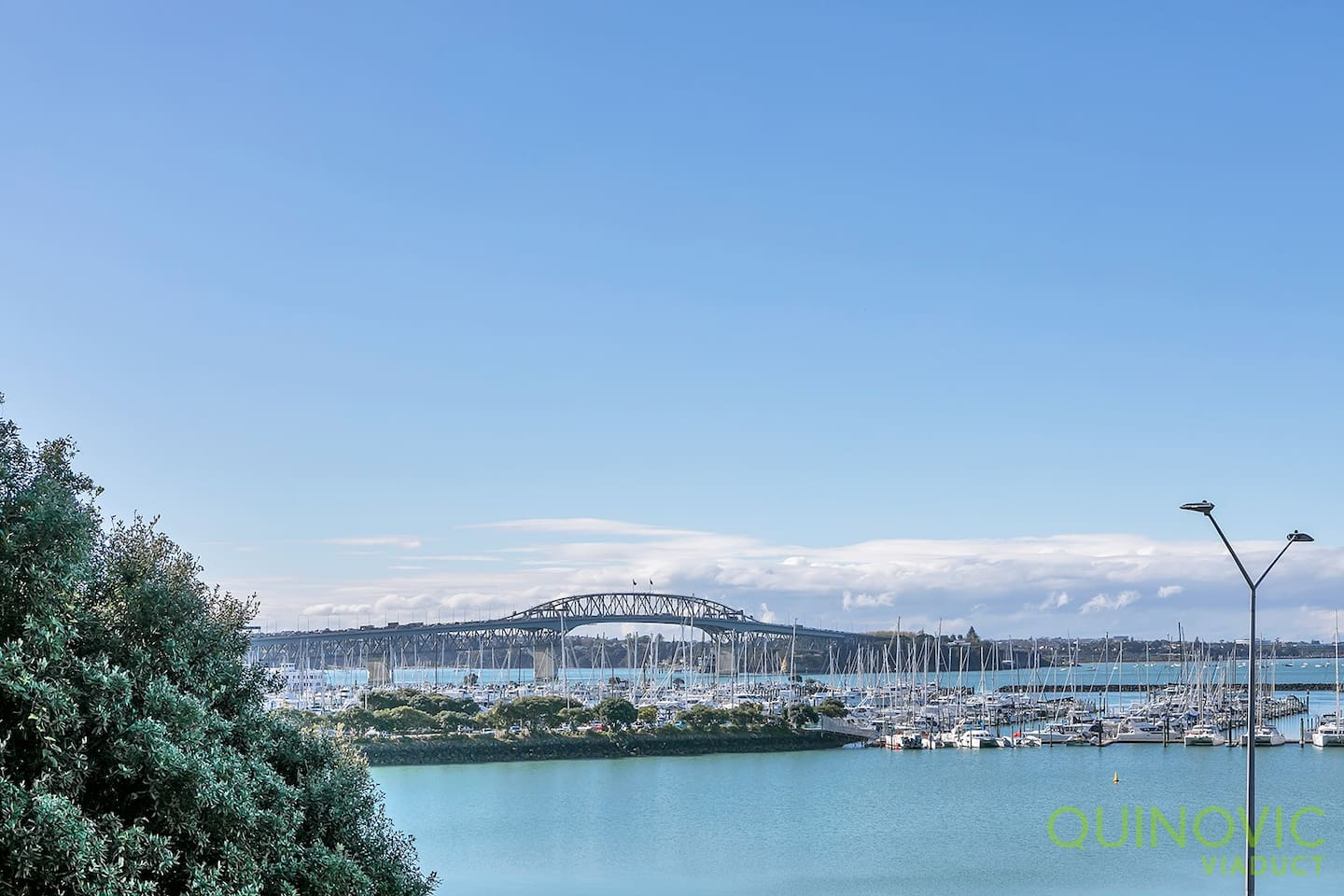 Stunning Harbour and Auckland Harbour Bridge views