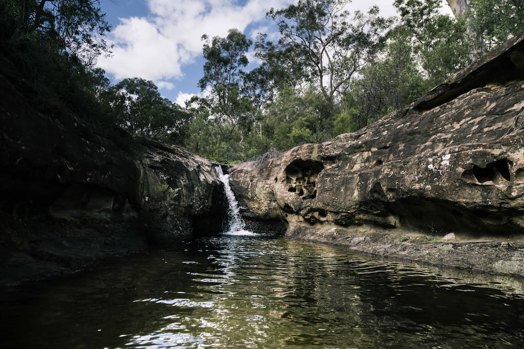 Back Creek and Waterfall on our 180 acre property