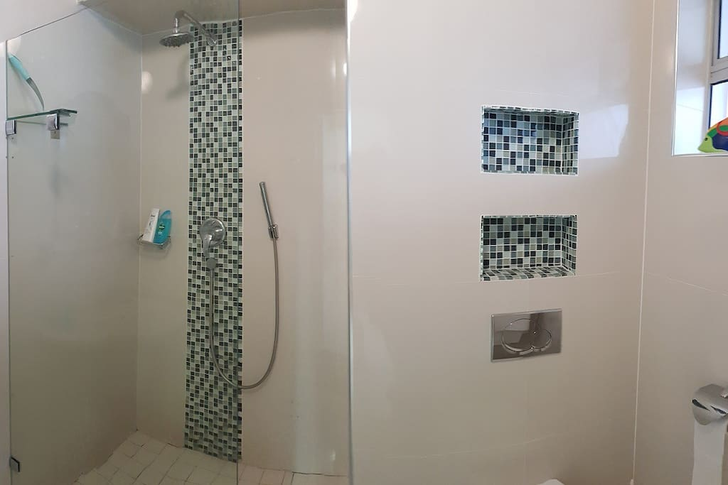 Bathroom with shower only