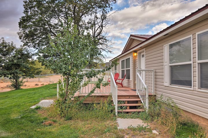 This vacation rental house is part of Sugarloaf Valley Farms in Boulder, Utah.