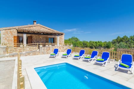 S'ARESTA DEN RUMBET - Villa with private pool in LLUCMAJOR. Free WiFi