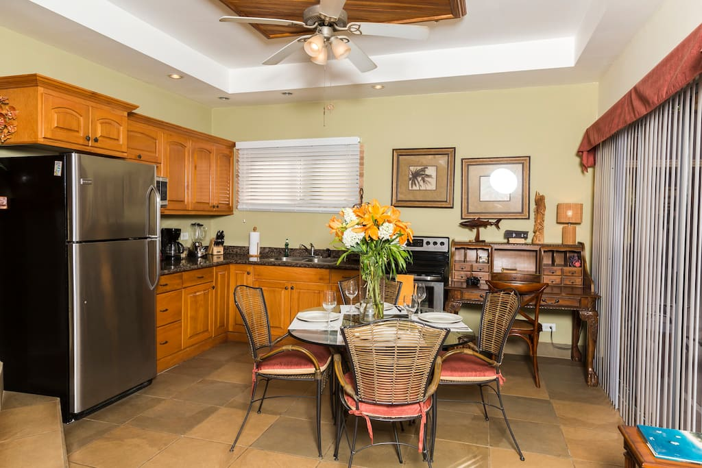 Fully Equipped Kitchen with Everything you may need to make  breakfast, lunch or dinner!