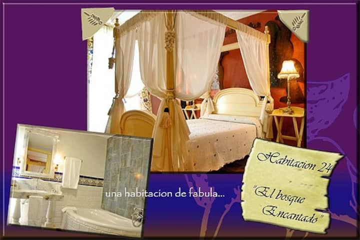 """""""El bosque encantado"""": cama dosel+bañera de riñón"""