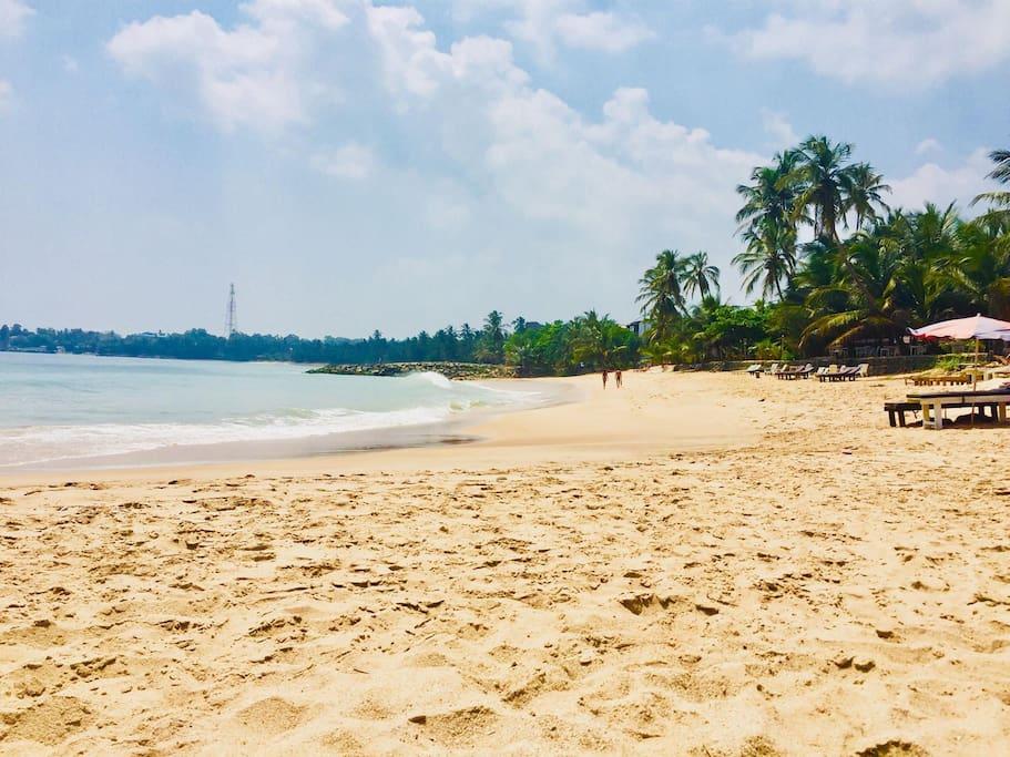 Tangalle beach - just less than 5 min walk.