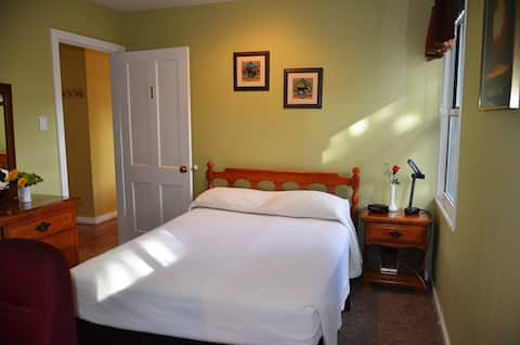 Private room & bath with downtown convenience!