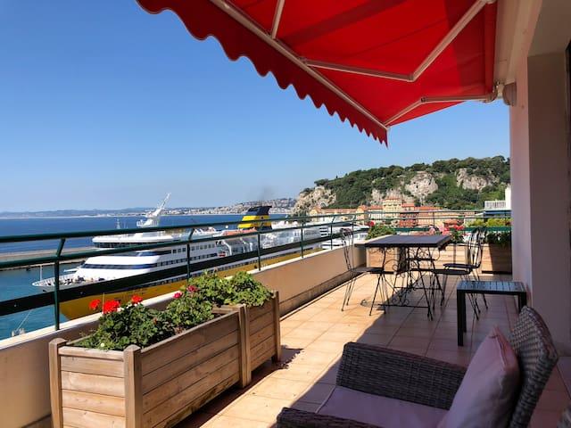 Sea Front Terrace ~ Nice