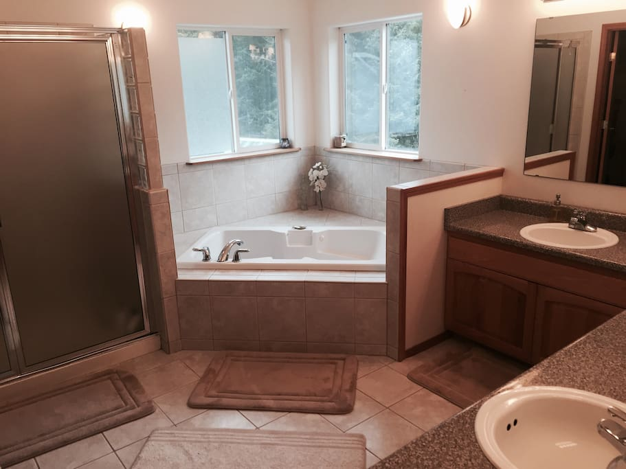 En suite private bath with jacuzzi tub