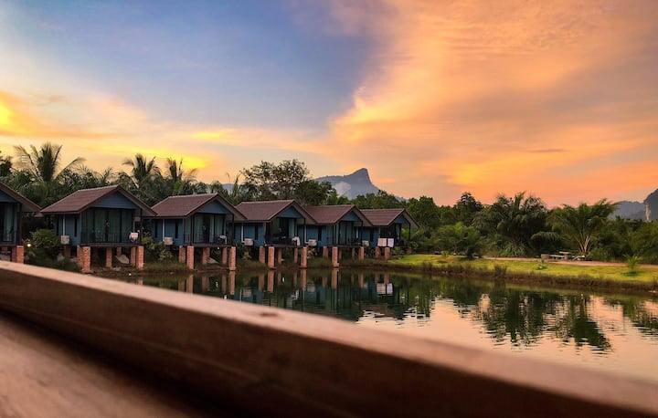 Baan Nai lake and mountain view #5