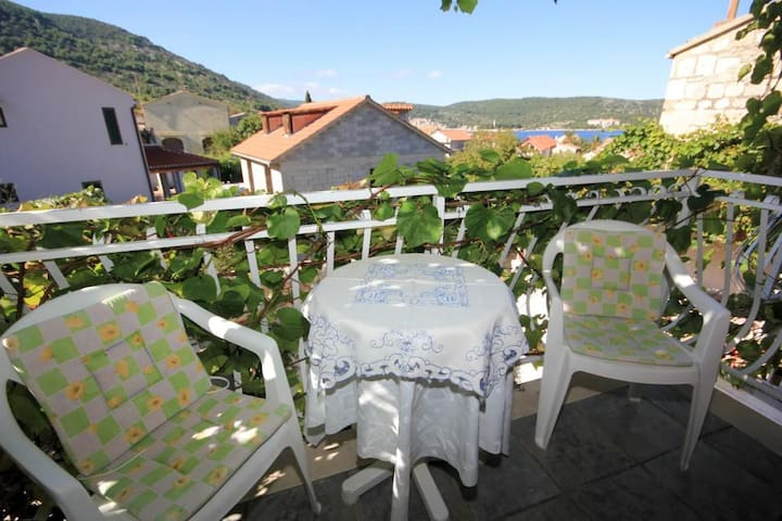 Studio flat with balcony and sea view Vis (AS-2476-d)