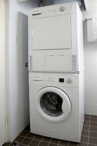 Washing machine and dryer conveniently located in your apartment