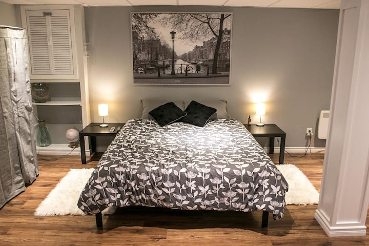 Modern Basement Guest Suite in Central Pickering