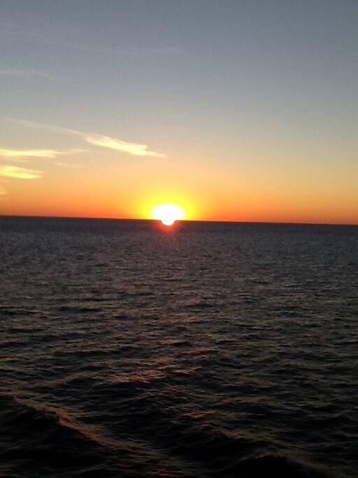 Sunset view on Lake Ontario