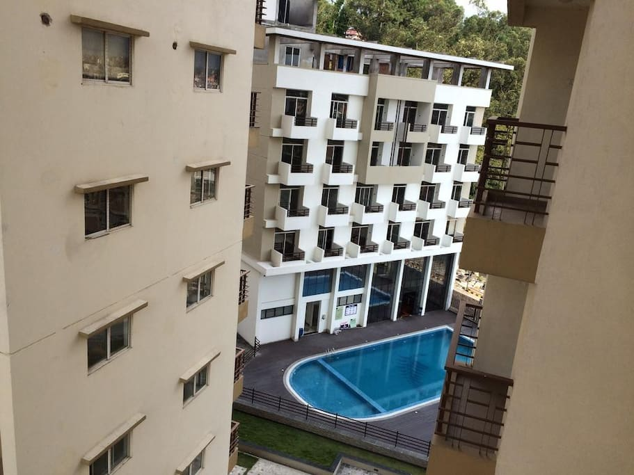 View of Swimming Pool and Gym from Balcony