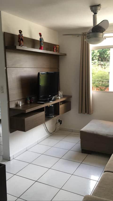 Apartamento 2 quartos com internet e ar