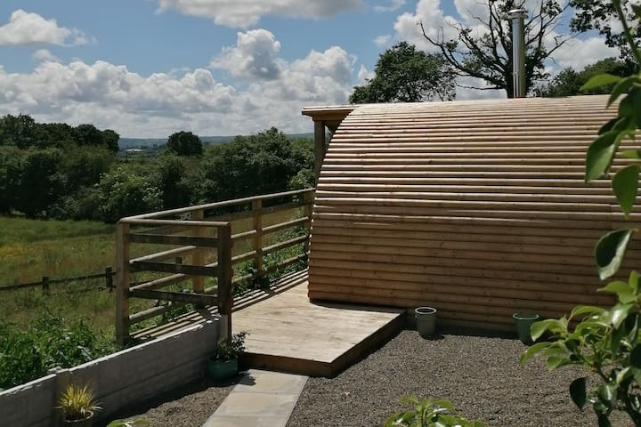 Cabin Morgan at Efyrnwy Escapes, Pontrobert, Powys