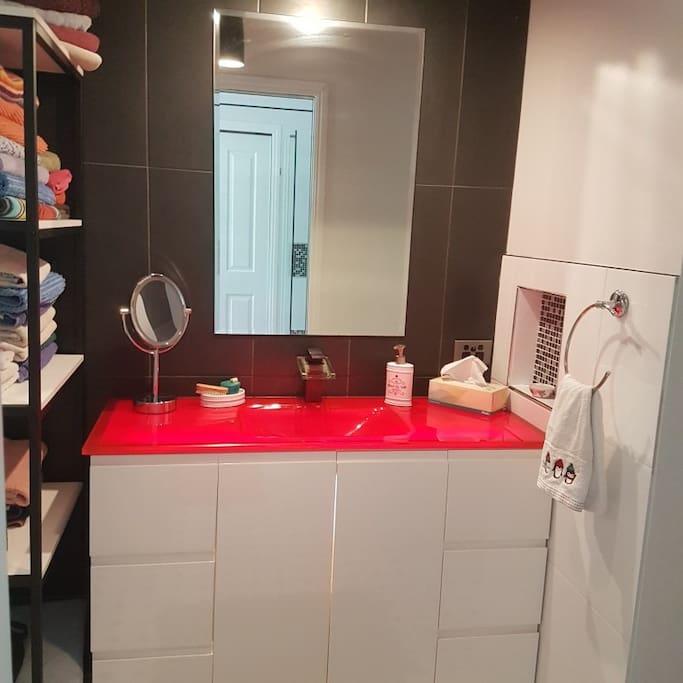 Separate Vanity & Toilet Area