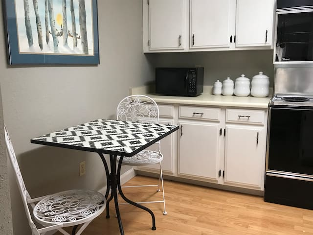 Small kitchen nook perfect for sipping coffee!