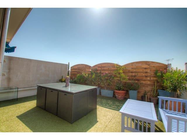 Appartement terrasse sur le toit - Antibes - Daire