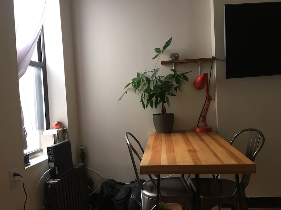 small table for meals/work