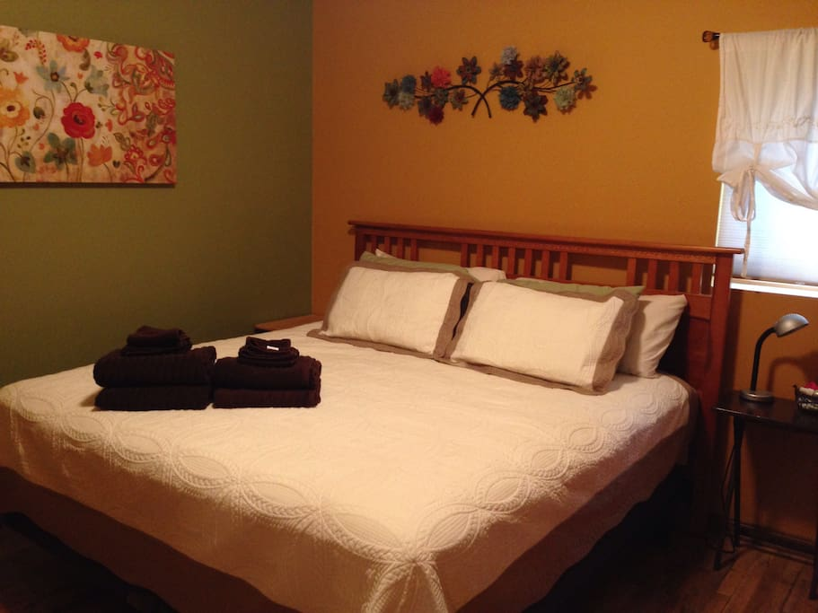 Guest bedroom with a new king bed!