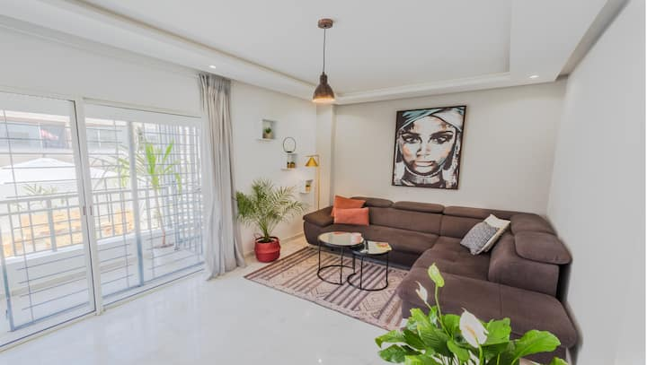 🔆AFRICAN STYLE 1 BR +STUNNING PATIO - RABAT AGDAL