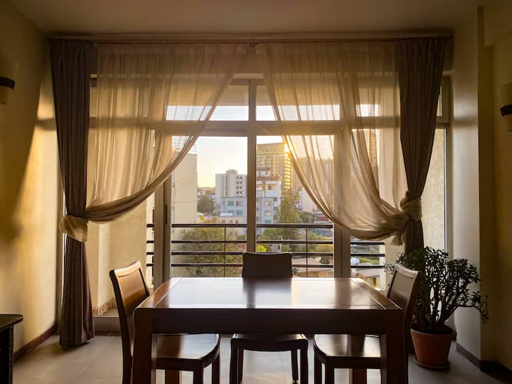 Two-bed Apt w/ Gorgeous City Views | Central Addis