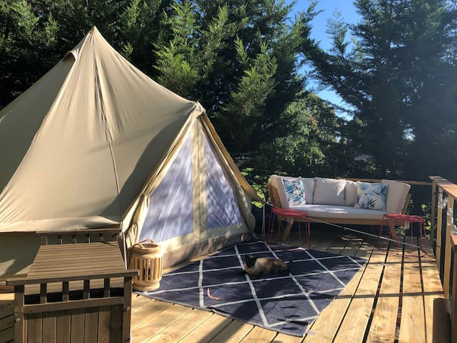 Glamping tent in your own beautiful orchard