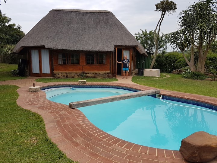 Pool Cottage in indigenous garden, rustic & calm