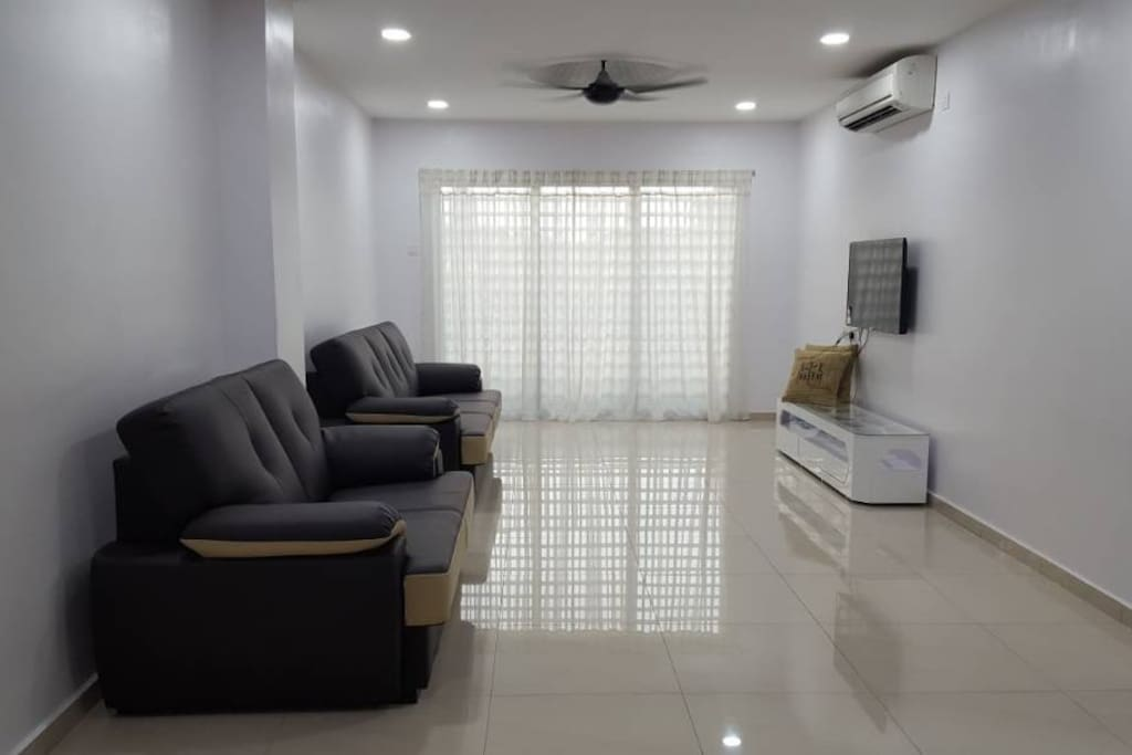 Spacious hall with air conditioner
