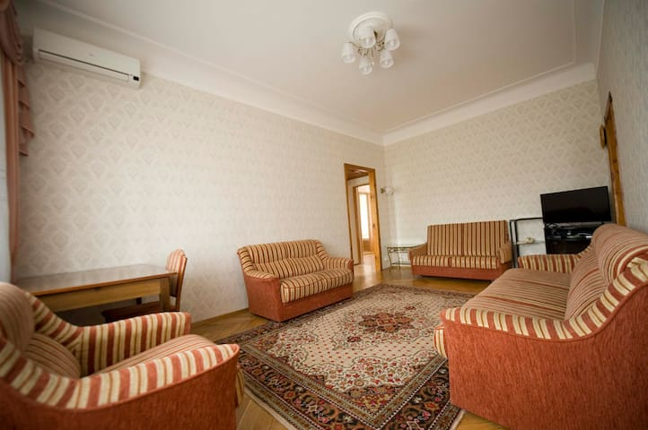 Living room, view from the balcony