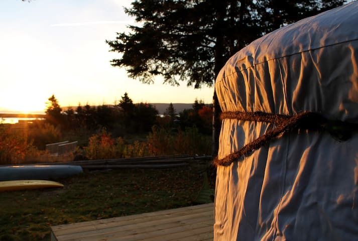 The Little Sky Yurt at Cabot Shores