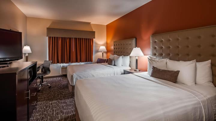 Captivating Room Two Double Beds At Boise Airport